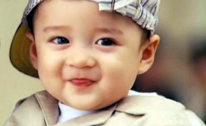 混血儿图片小孩可爱男孩