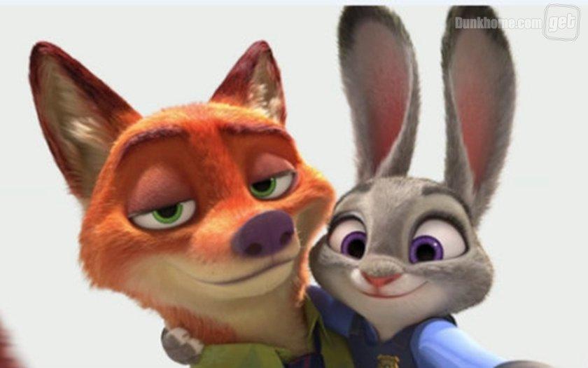 大家一定还记得《疯狂动物城》里的这对狐兔cp图片