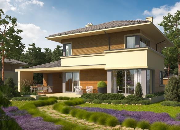 自建实用2层别墅14x11米, 布局合理含平面图!