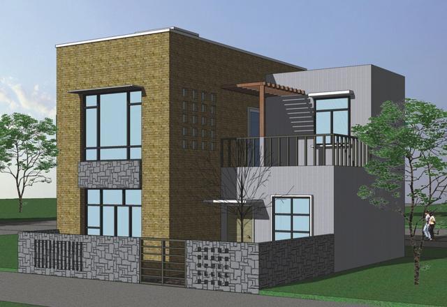 8x10米自建房户型, 一套适合农村人的现代别墅