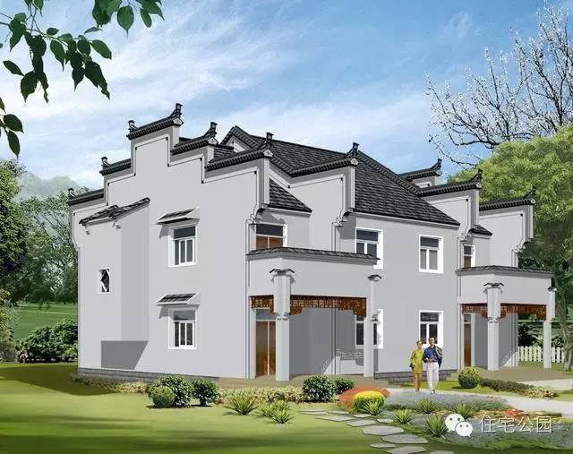 中式农村自建房, 15x13米双拼别墅