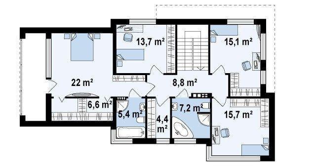 自建房户型,超级现代风格