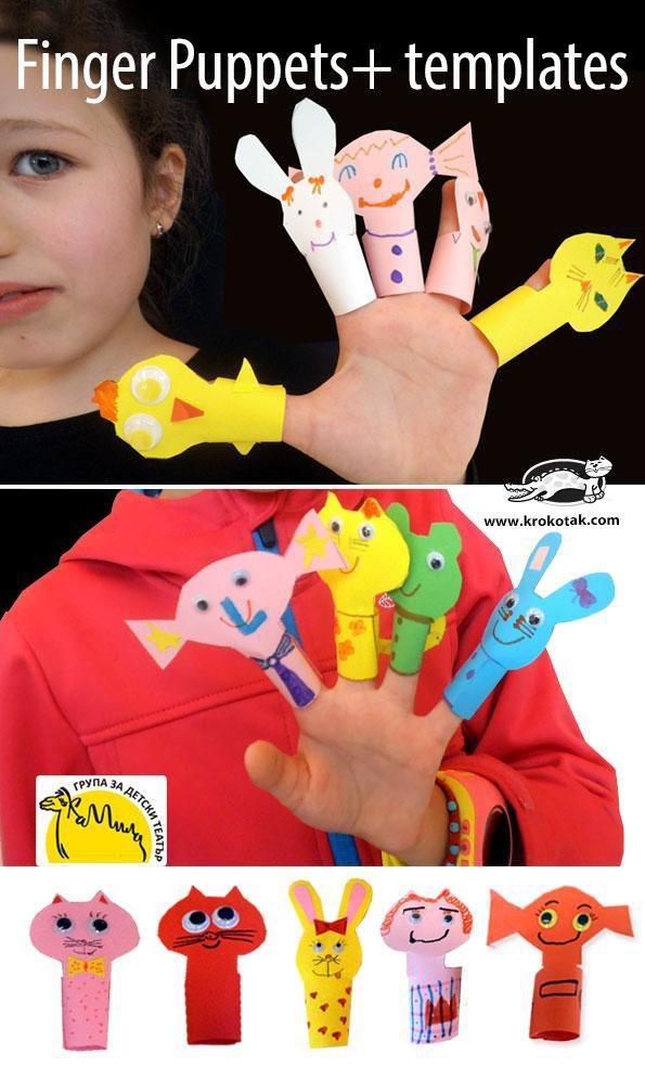 可爱的手指玩偶, 不妨做了和小朋友一起玩哦