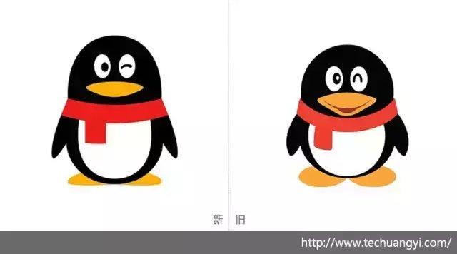 仿qq企鹅图标-矢量