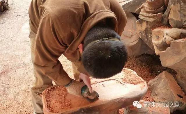 废旧木头动物制作