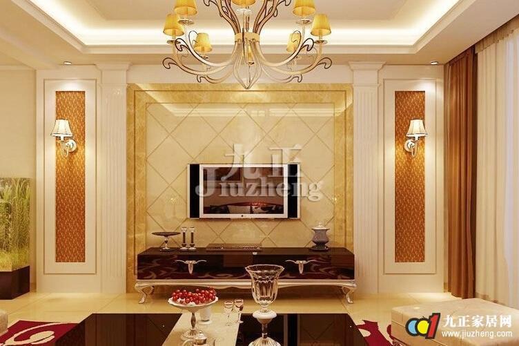 客厅欧式电视背景墙的特点