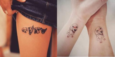 戒指动物可爱纹身