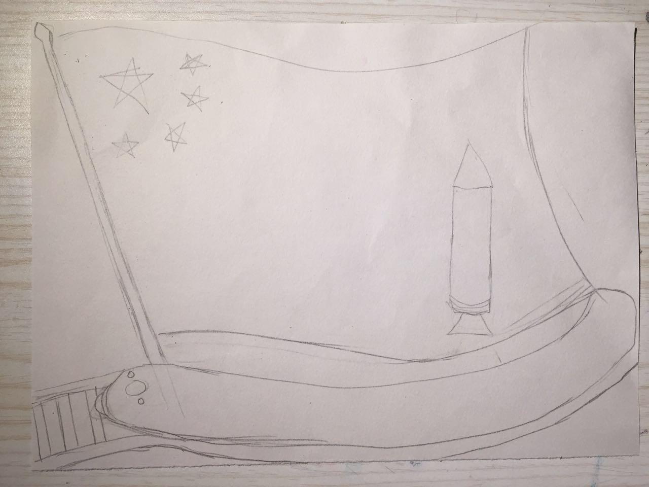 星星素描图片画法步骤