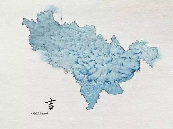 泼墨中国地图