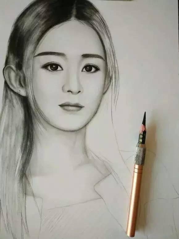 赵丽颖手绘图片铅笔画