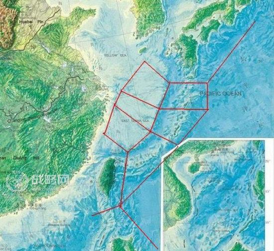 三大岛链高清示意图