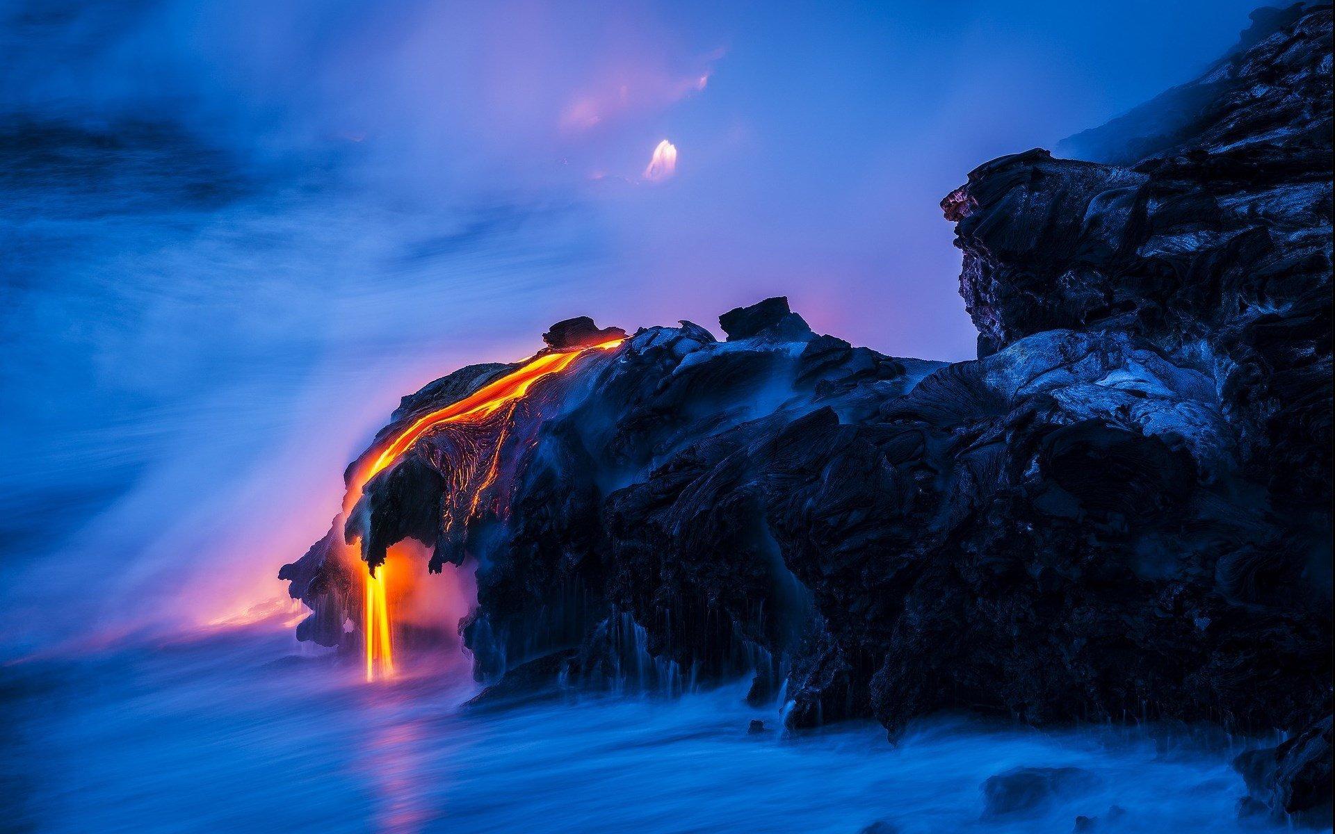 超清晰自然风景壁纸 壮丽火山自然风景高清桌面壁纸下载 _壁纸素材_百