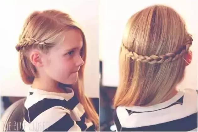 蝴蝶结是每个小公主的必备节日发型之一