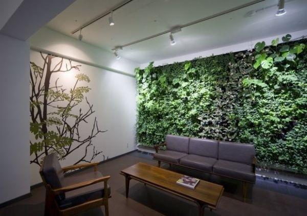 農村自建房客廳加個植物墻, 效果超贊!