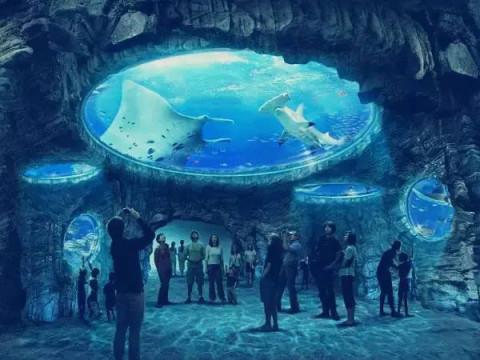 壁纸 海底 海底世界 海洋馆 水族馆 480_360