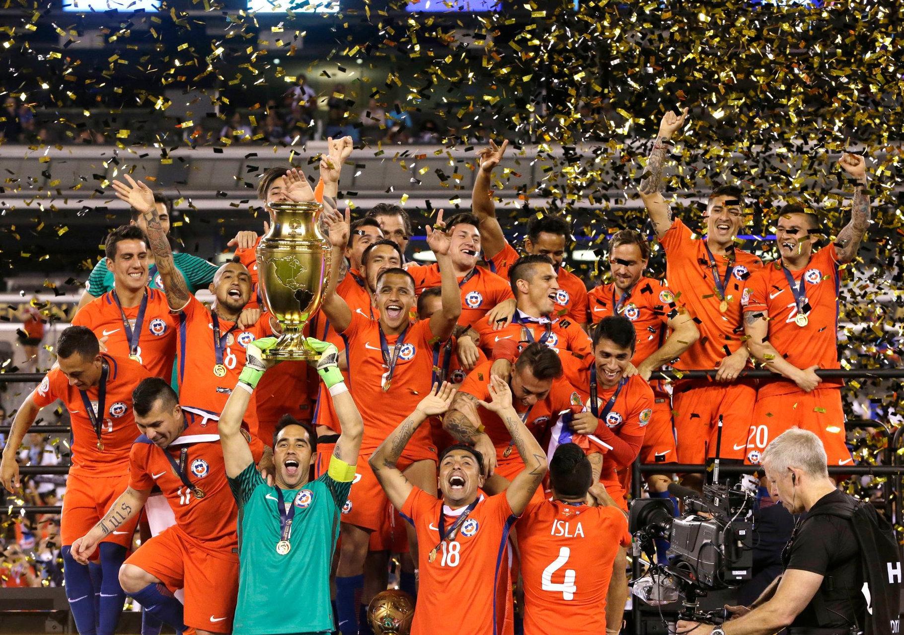 智利点胜阿根廷夺得百年美洲杯冠军, 两年两次