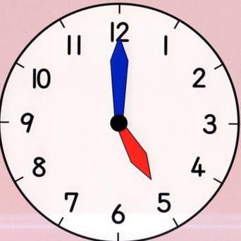 可爱钟表的简笔画