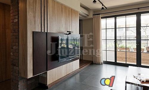 木饰面板,木地板,木线条如何打造电视背景墙.