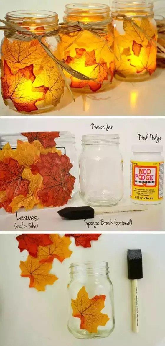 接受秋天的礼物, 和孩子一起玩树叶手工, 创意不是一点点