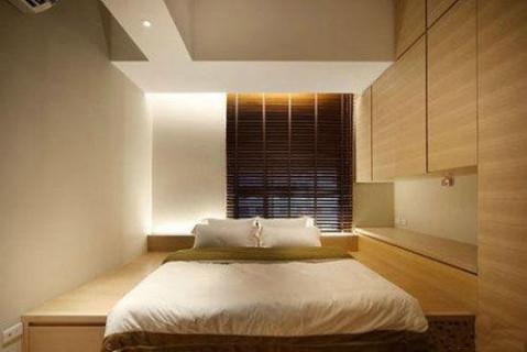 榻榻米卧室设计 舒适储物两不误