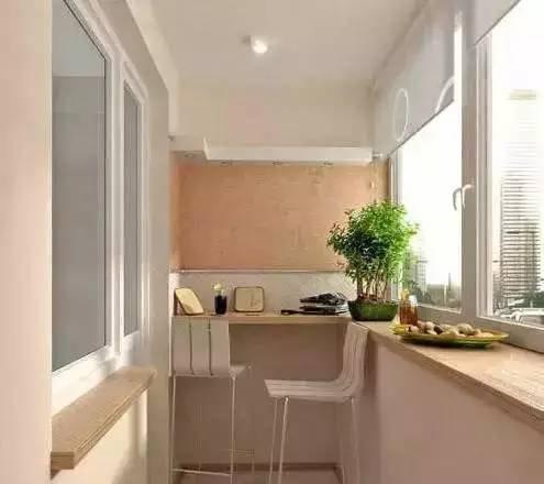 家庭室内阳台改休闲功能区装修设计效果图 为小户型