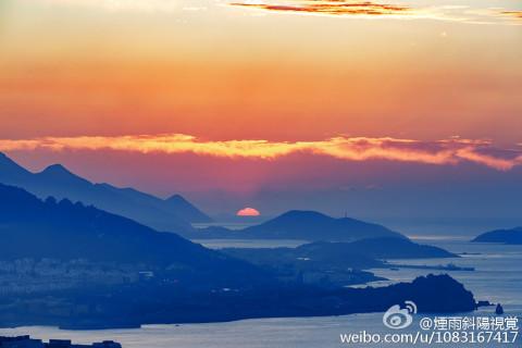 微信太阳东升风景图
