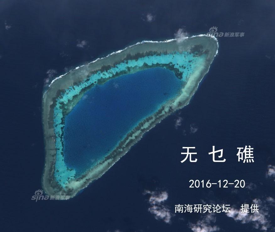 中国南海部分岛礁最新图片