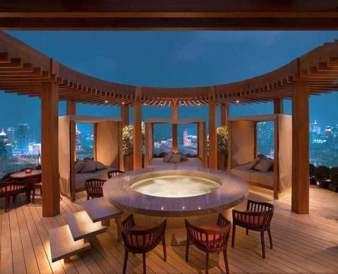 浴池吧台背景版设计